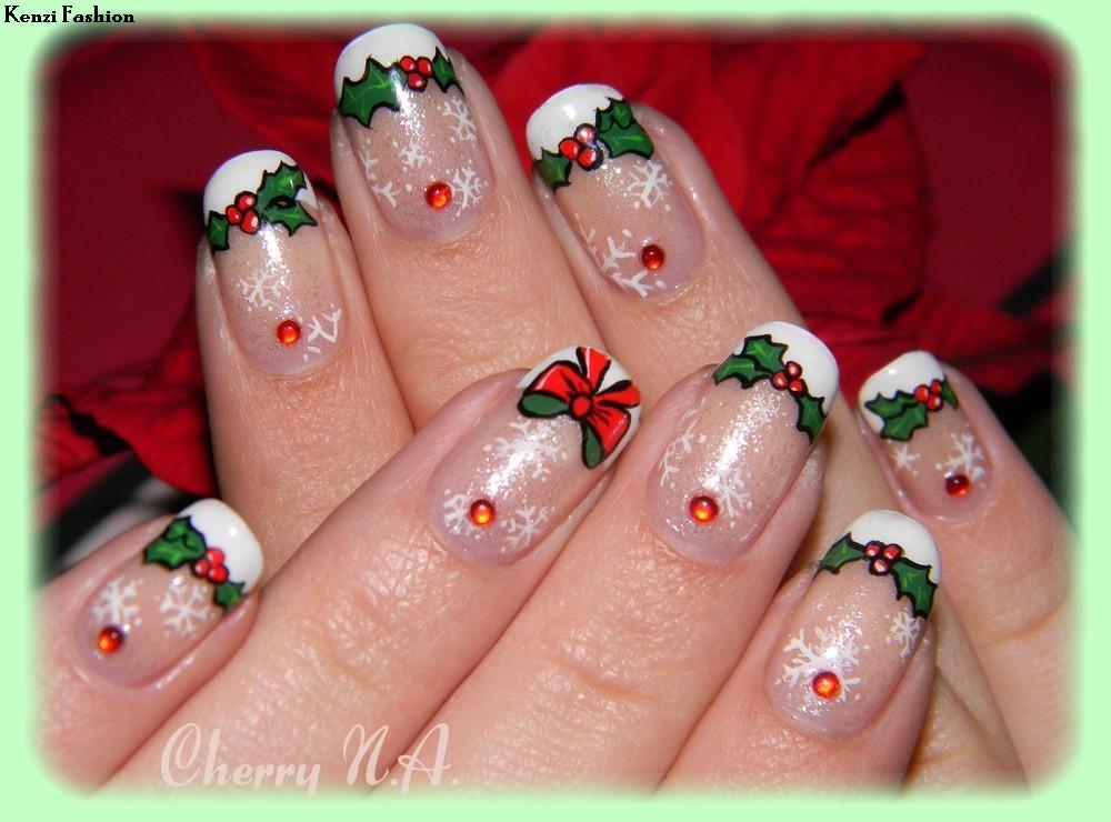 nail-art-houx-flocons-de-neige-noel-christmas-3