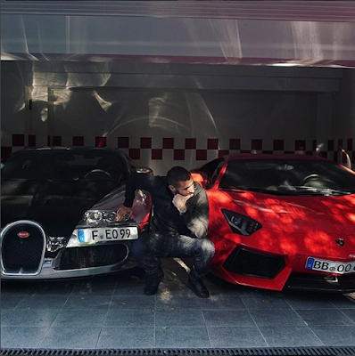 Real Madrid Striker, Karim Benzema Shows Off His Exotic Super Cars. Photos