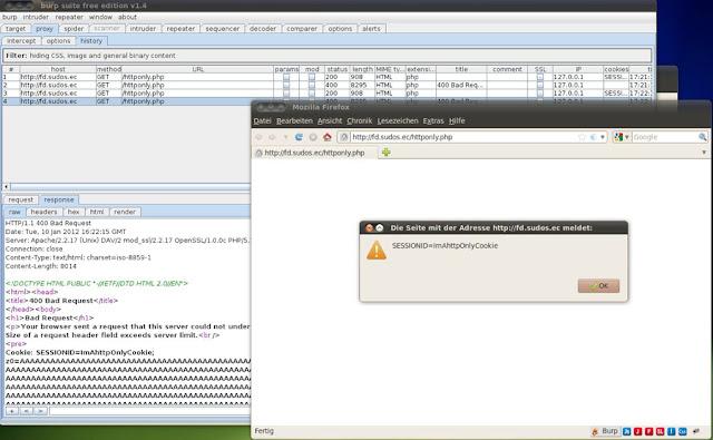 Robando cookies HTTPOnly vía XSS en servidores Apache Apache_http_only