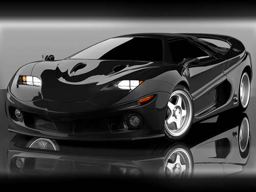 concept car wallpaper black