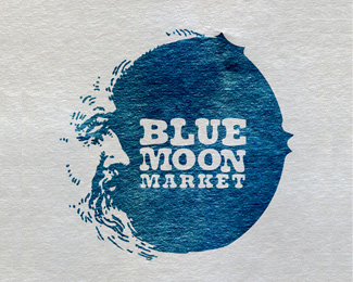 Blue Moon Market Logo Design