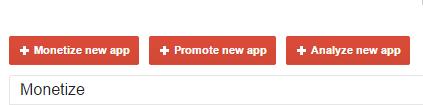 Admob monetize new app
