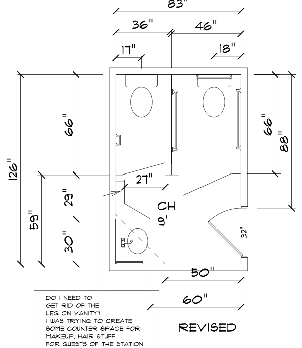 Ada how to convert a standard public bathroom into an ada for Ada bathroom layout