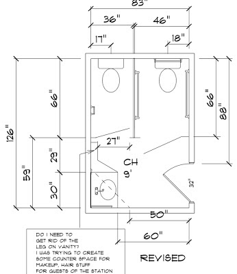 Commercial ADA Bathroom Layout