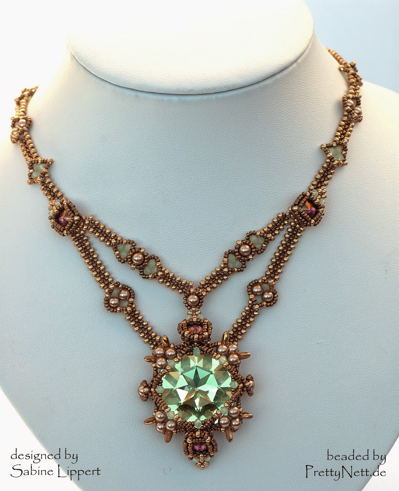 necklace Juliet beaded by PrettyNett.de