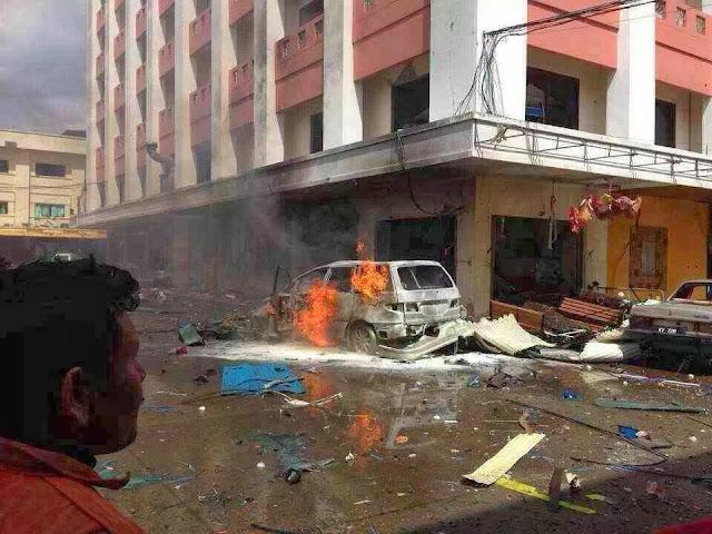 danok thailand, letupan bom di danok, hotel oliver danok, puat pemisah thailand
