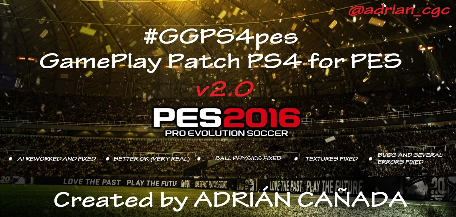 GamePlay Patch v2.0 for PES2016 | PesFreeDownloads