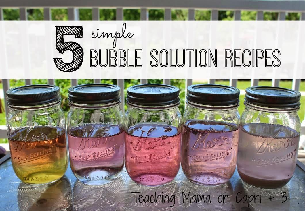 Summer play bubble recipe