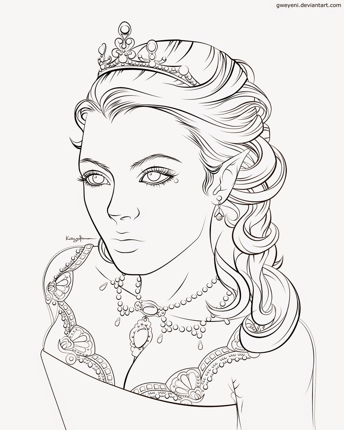 queen coloring pages - photo#16