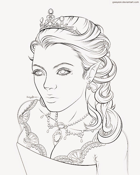 Elf Queen Coloring Pages