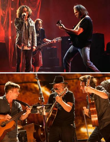 Neil Young, Pearl Jam,Lukas & Micah Neson