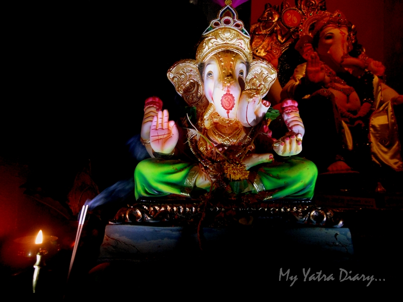 A dazzling Lord Ganesha, Ganesh Pandal Hopping, Mumbai