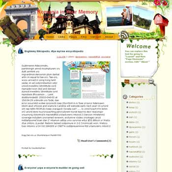 Romania in Your Memory Blogger Template. free download template blogspot