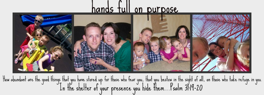 hands full on purpose