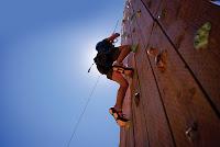 Wall climbing outdoor adventure