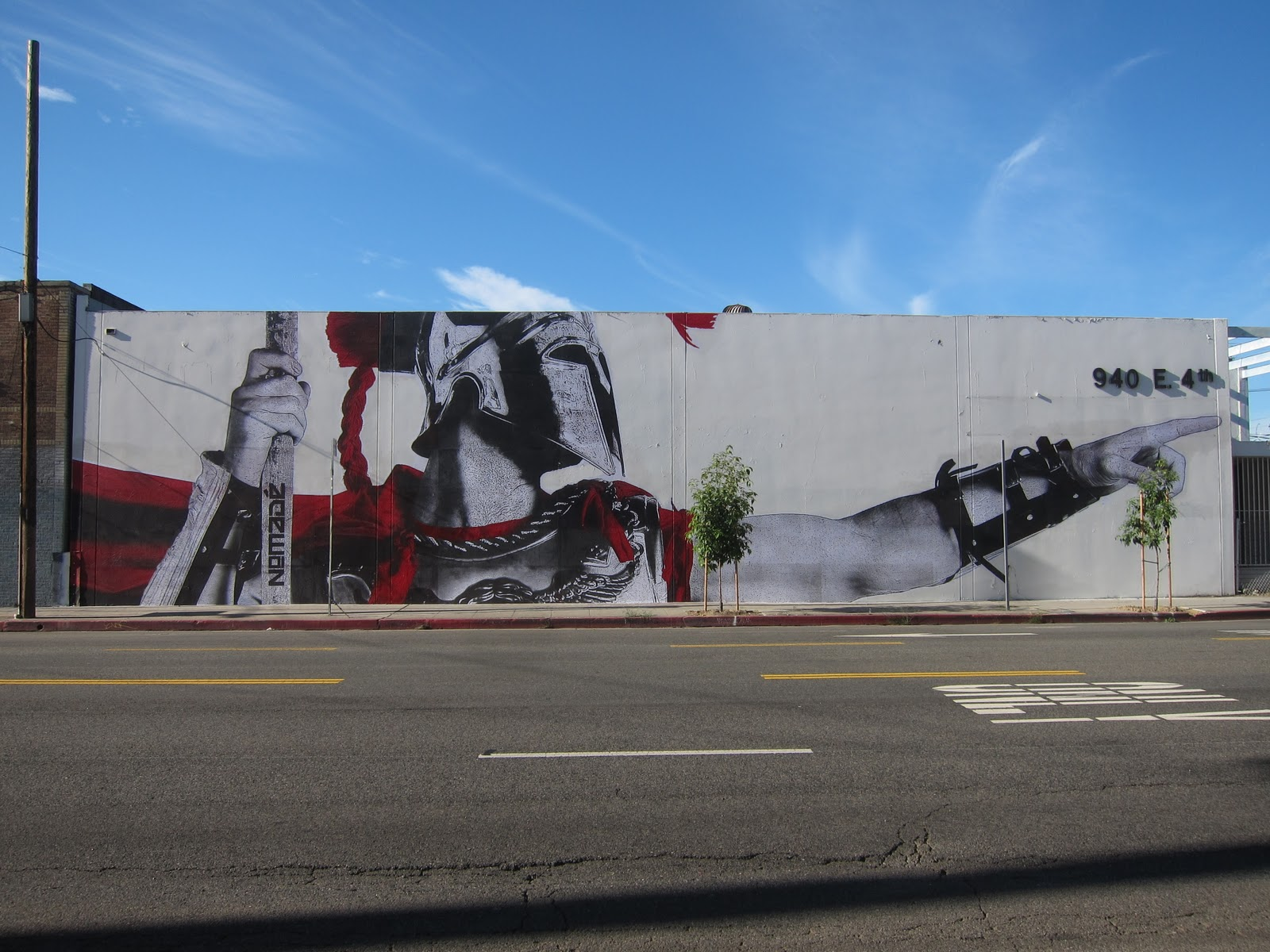 The nomad new mural in los angeles streetartnews for Downtown hollywood mural project