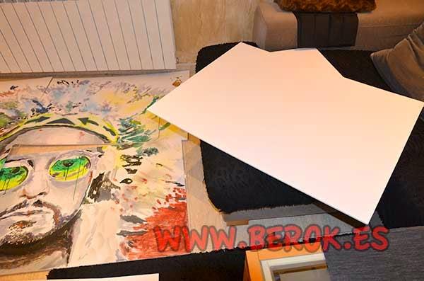Cuadros pintados sobre cartón pluma
