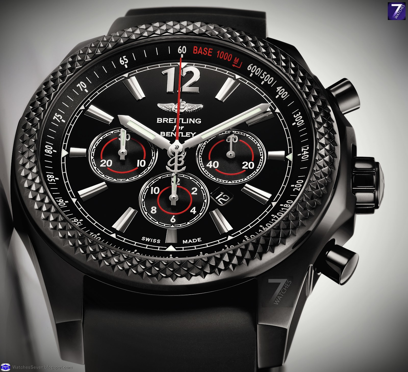 watches 7 breitling for bentley barnato 42 midnight carbon limited edition. Black Bedroom Furniture Sets. Home Design Ideas