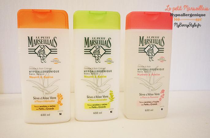 Le petit marseillais gamme hypoallergenique myberrystyle blog beaut grenoble - Gel douche hypoallergenique ...