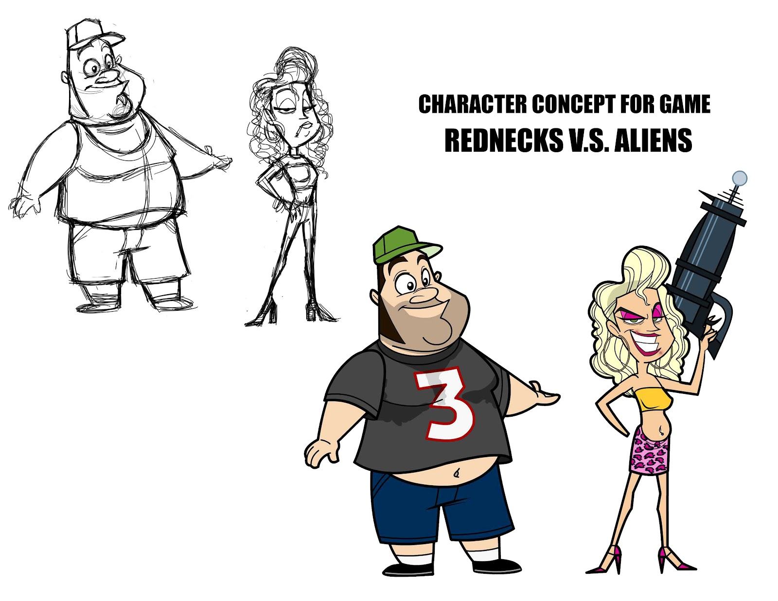 Character Design Vs Animation : Social gaming animation sample and character designs