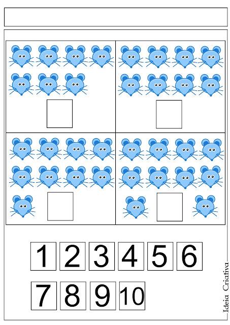 Atividade para Imprimir Grátis Número e Quantidade