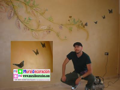 Decoración con mariposas para dormitorio de matrimonio Alta Gama