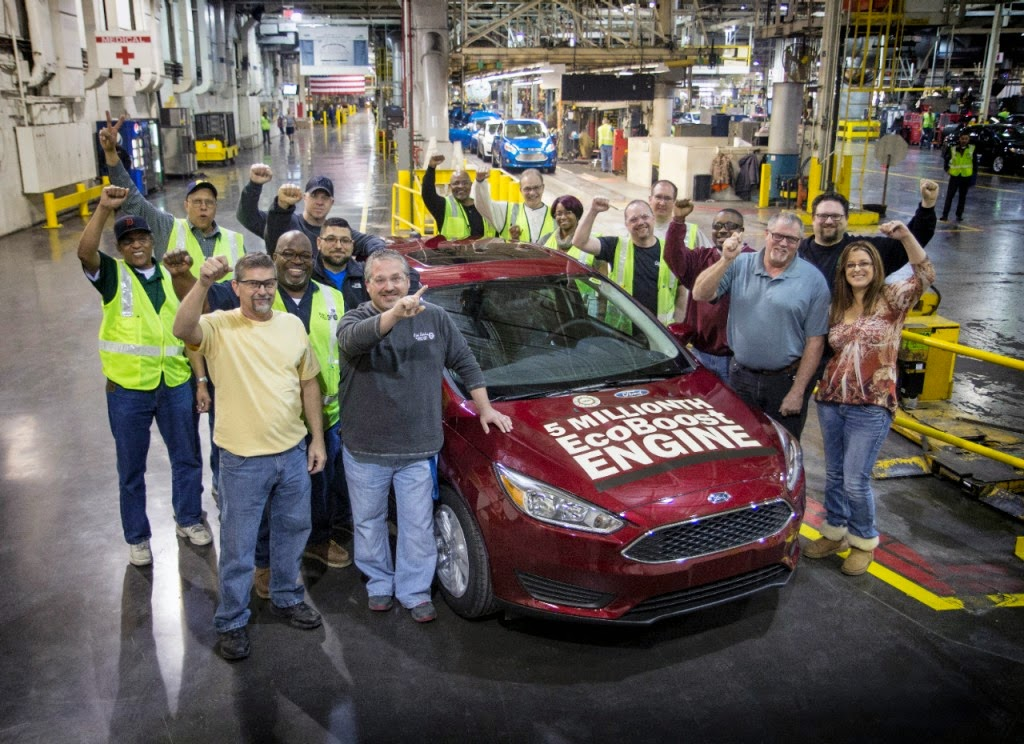 Ford Celebrates Production of 5-Millionth EcoBoost-Equipped Vehicle