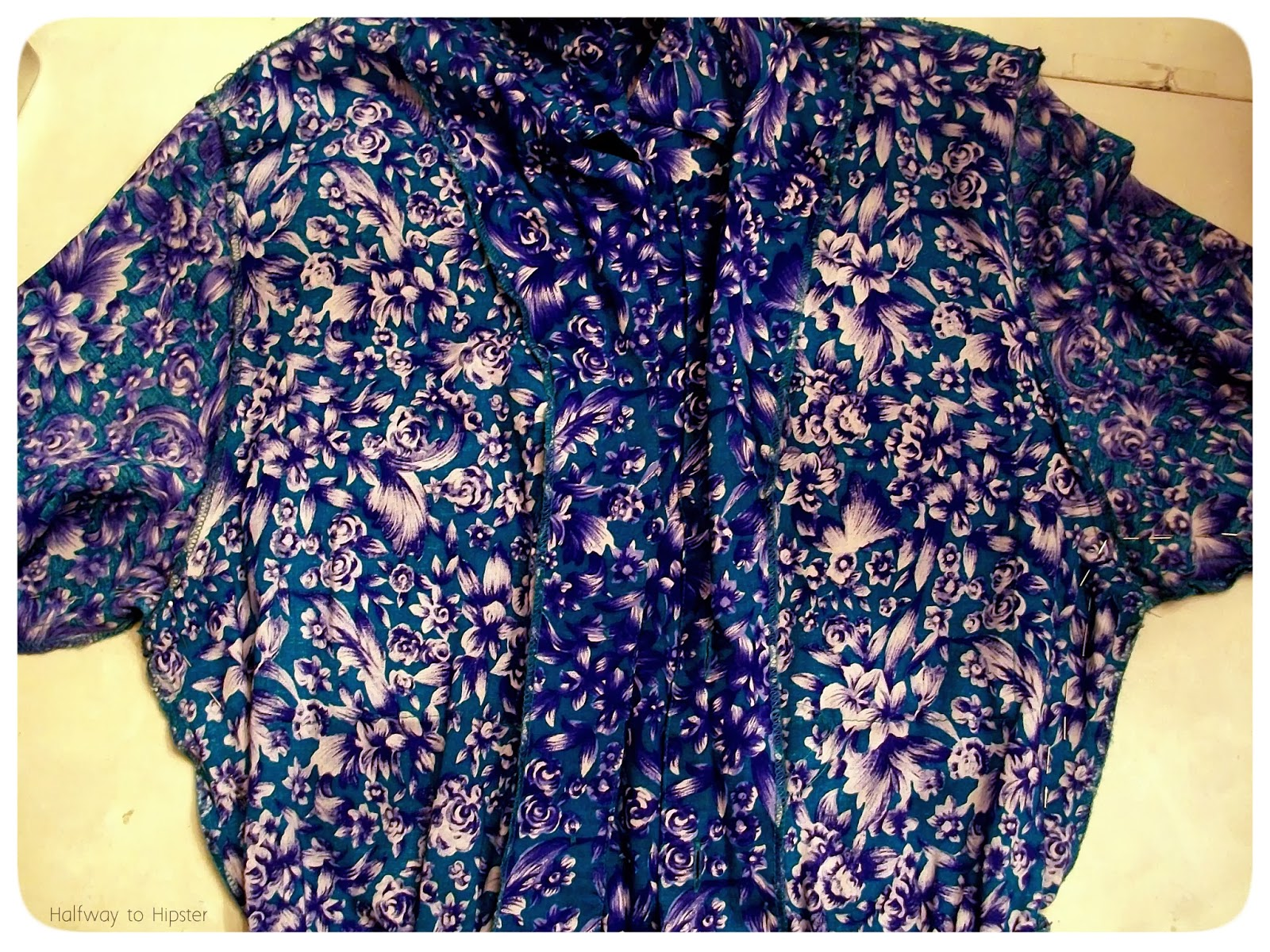 Teal Flowered Dress Refashion