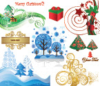 Beautiful Christmas Material Late Free Vector Graphics - 03