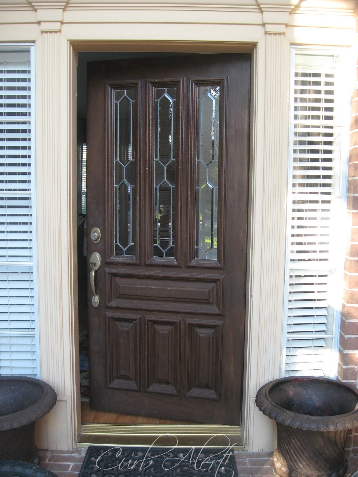 Updating Your Homeu0027s Curb Appeal {Front Door Refinishing}