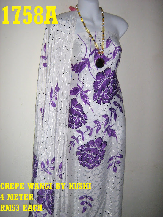 CWK 1758A: CREPE WANGI BY KUSHI, 4 METER