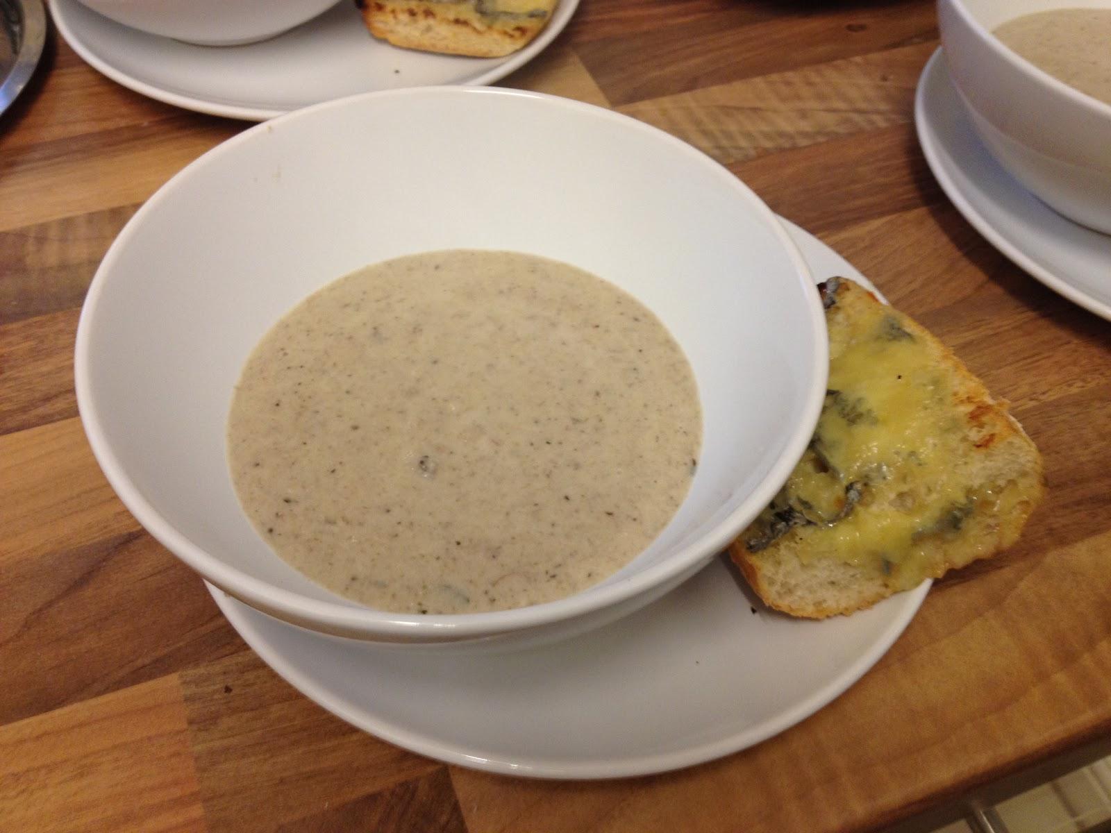 CookINSalford: Cream of Mushroom and Pancetta Soup...