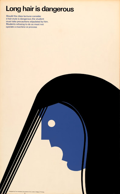 Safety poster by Tom Eckersley. Exhibited at London College of Communication