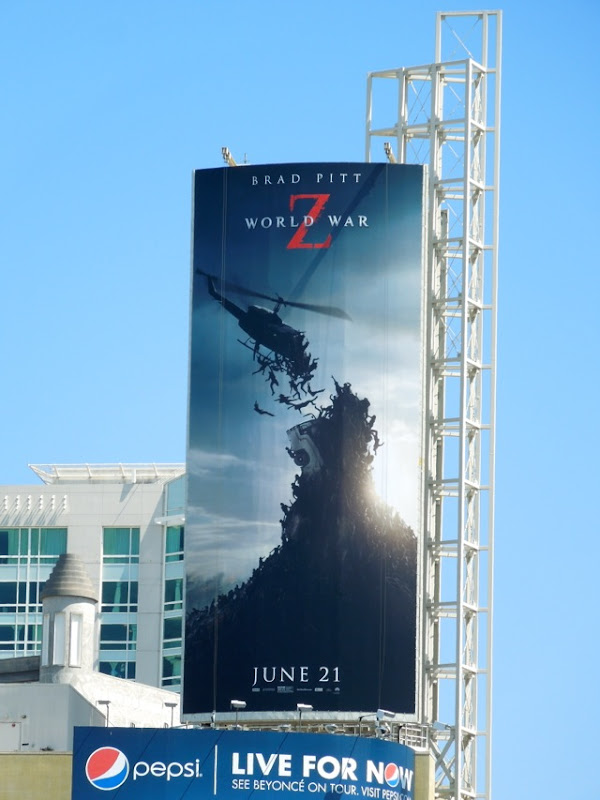 World War Z helicopter billboard