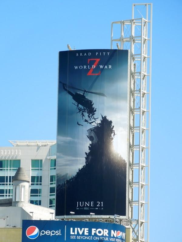World War Z helicopter billboard