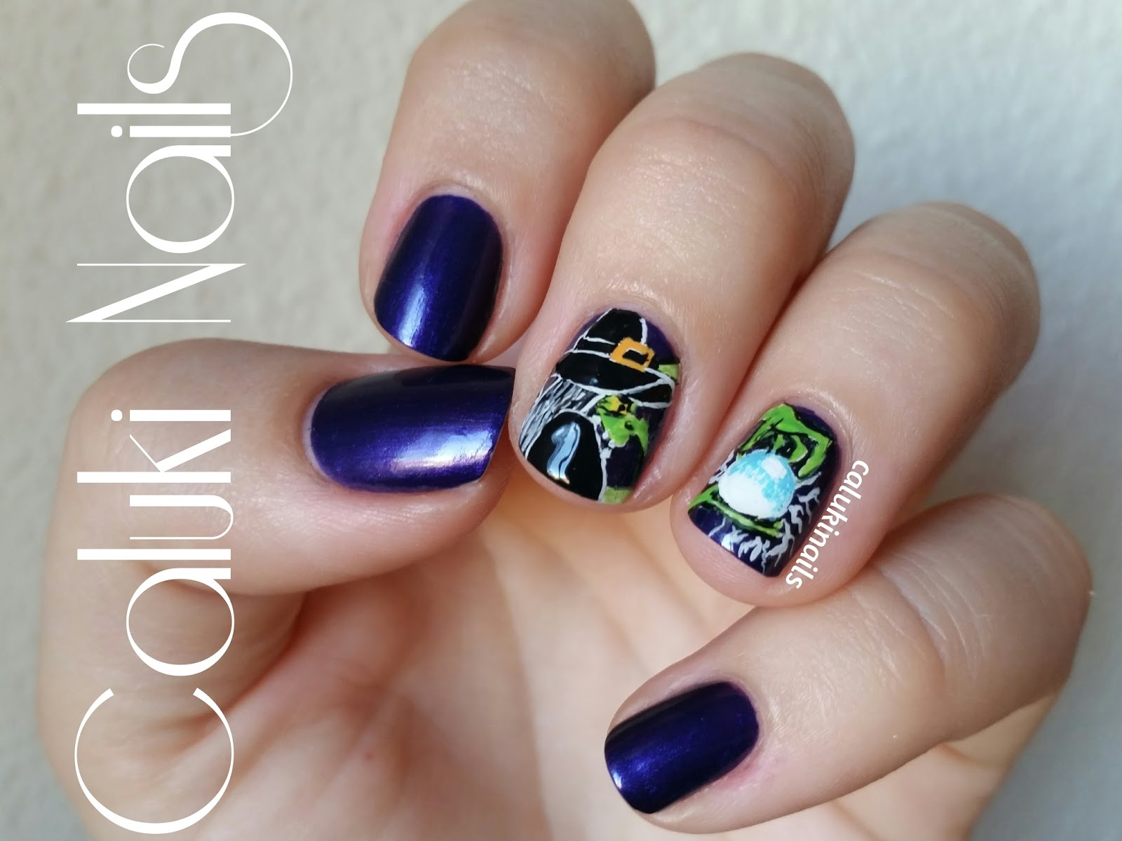 Caluki Nails Nail art Bruja RetoColoresCosasdeChicasVol3