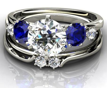 Blue Sapphire Wedding Rings Mens Blue Sapphire Wedding Rings