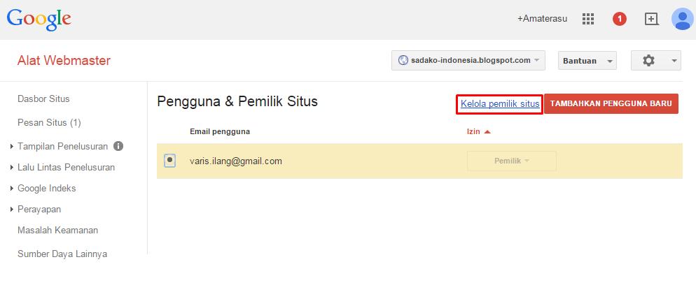 Cara mendaftarkan blog/ website di Google Webmaster 3