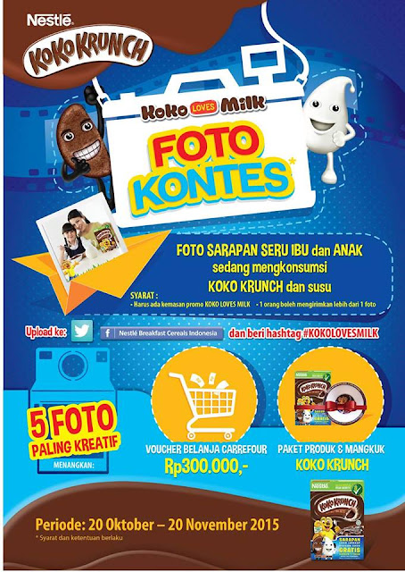 kontes foto facebook nestle koko krunch kokolovesmilk