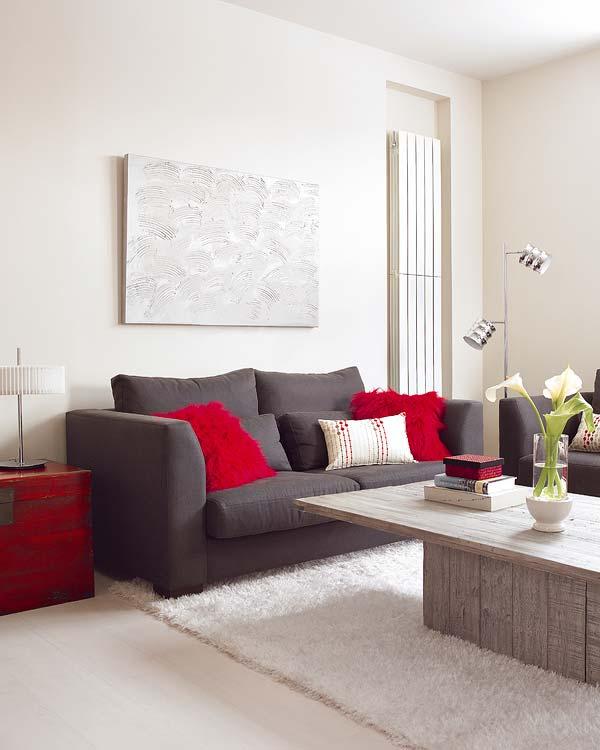 Decoracion actual de moda un piso moderno de 45 m for Camino mesa moderno