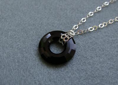 Swarovski ring - naszyjnik