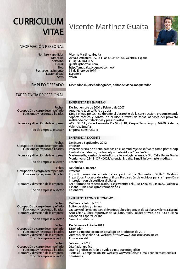 Contempor neo resume de arquitecto de empresa elaboraci n for Curriculum arquitecto