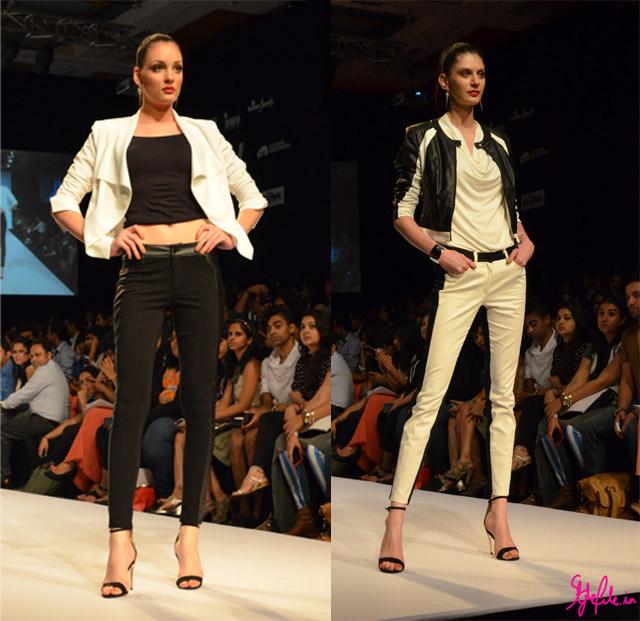 achromatic black and white bisou bisou lakme fashion week