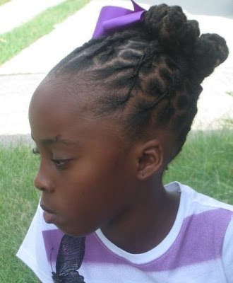 Loc updo for little girls…. | Black Women Natural Hairstyles