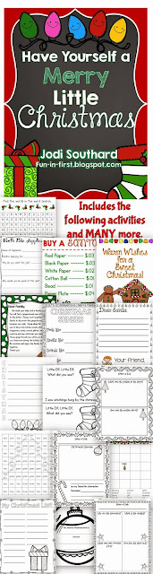 http://www.teacherspayteachers.com/Product/Christmas-Activities-Packet-168627