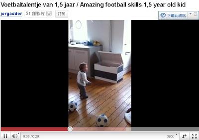 小柏克踢球 - 荷蘭1歲半男童 小柏克踢球影片