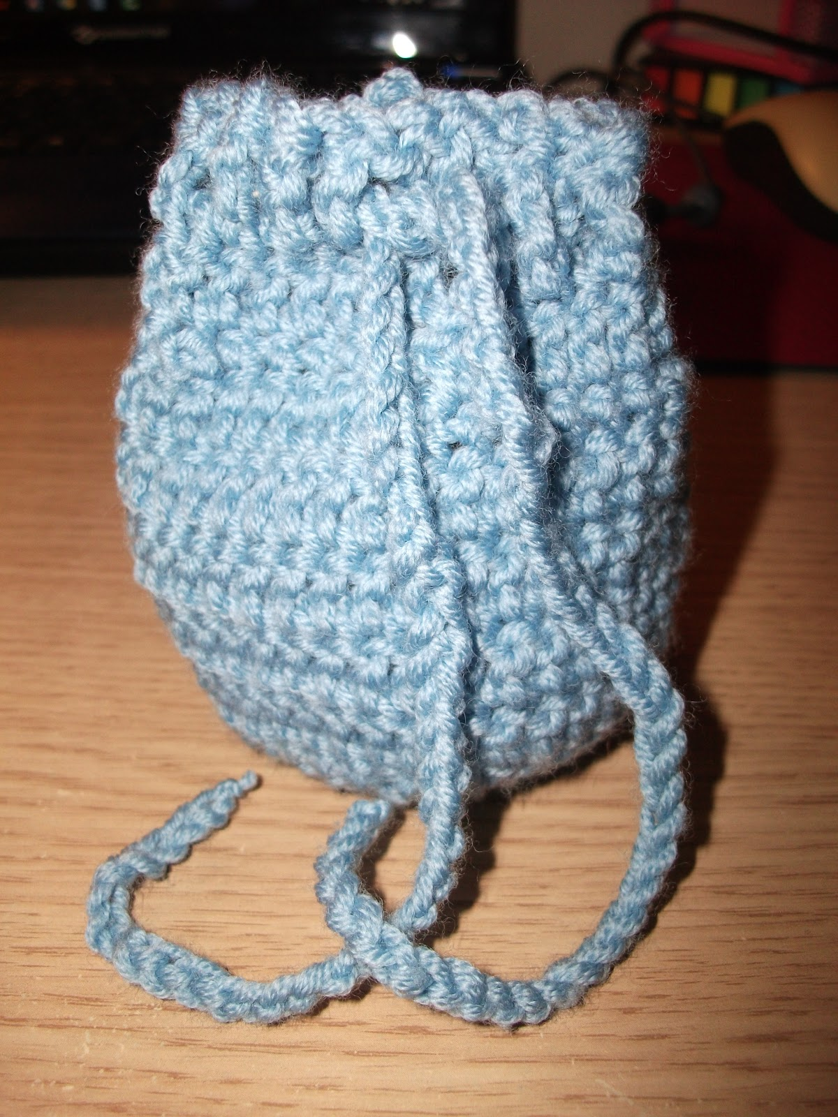 Crochet Pattern For Small Drawstring Bag