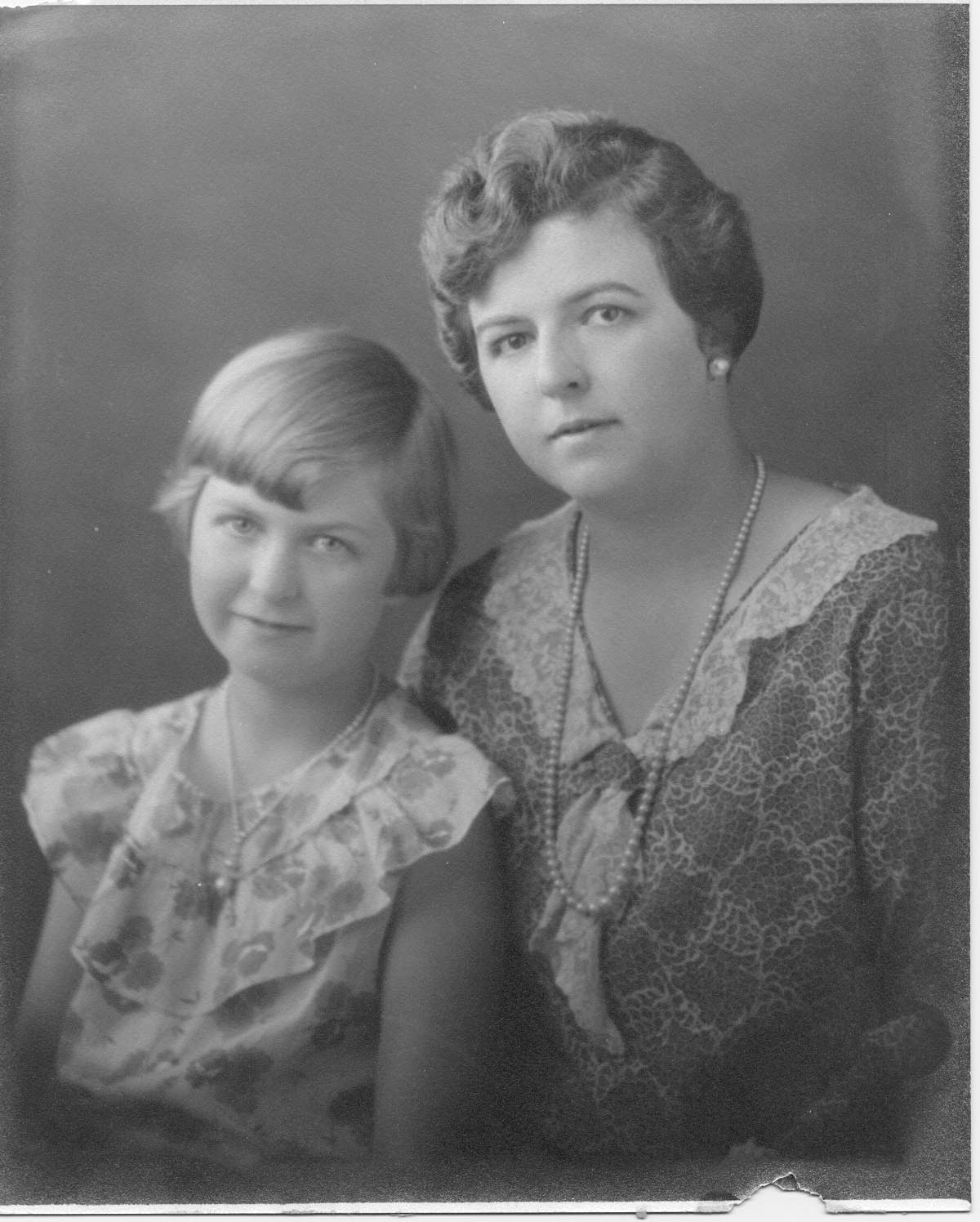 (Not So) Wordless Wednesday - Post 267: My Mother and Grandmother in 1930