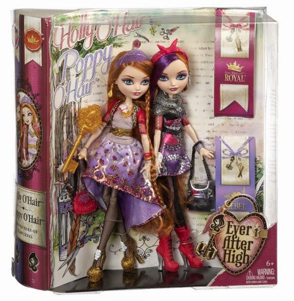 TOYS : JUGUETES - EVER AFTER HIGH  Muñecas Gemelas Holly O'Hair & Poppy O'Hair  Producto Oficial 2014 | Mattel BJH20 | A partir de 6 años