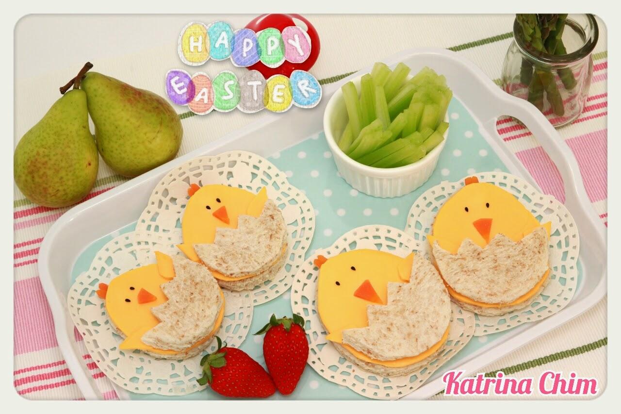 <復活節食譜 #1> 快樂小雞三文治